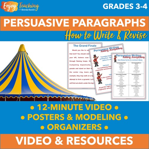 Writing Persuasive Paragraphs Video - Streaming or Shareable Link