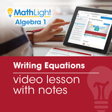 Writing Equations Video Lesson with Guided Notes | Good fo