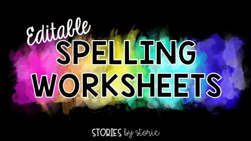 Spelling Worksheets for 10 Words