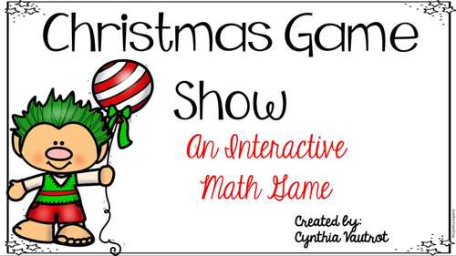 Christmas Digital Interactive Game for Math Concepts