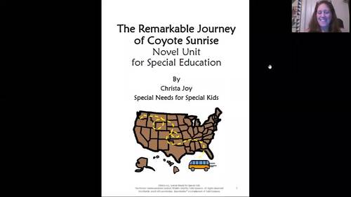 The Remarkable Journey of Coyote Sunrise Novel Study for Special Education