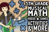Musical 5th Grade Common Core & TEKS Math Review Program w