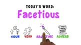 FREE Word of the Week Vocabulary: FACETIOUS: Animation Vid