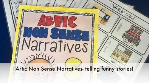Articulation Activity: 'r'blends non-sense narratives for speech & language