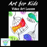 Art Project for Kids: Learn How to Draw and Watercolor Pai