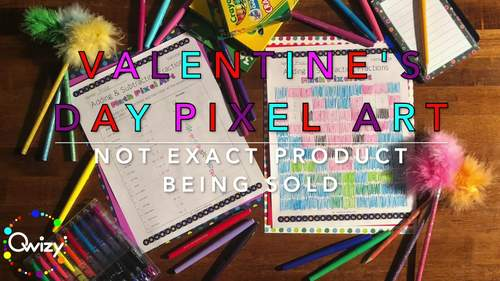 Valentine's Day: Multiplying Positive & Negative Integers Pixel Art Mystery Pics