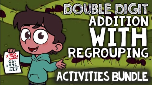 Double Digit Addition with Regrouping: Word Problems & Multimedia Activities