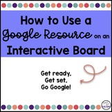 How to Use a Google Resource on a Promethean Board
