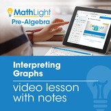 Interpreting Graphs Video Lesson with Student Notes