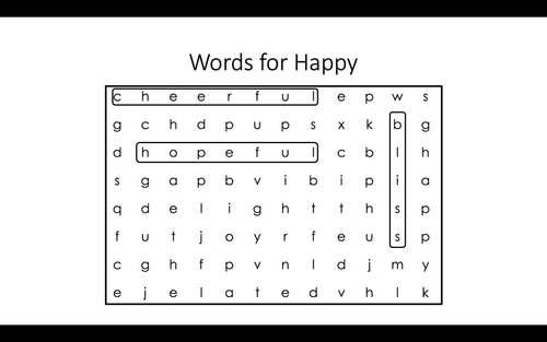Words for Worry Word Search & Crossword [Zones of Self Regulation Activities]