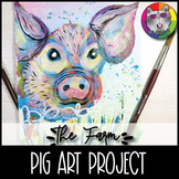 Farm Art Project, Pig Art Lesson