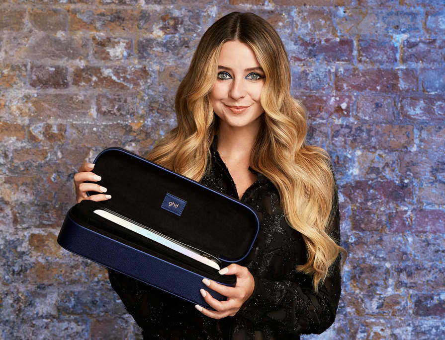 Create Zoe's party hairstyles with ghd's limited edition Christmas collection.