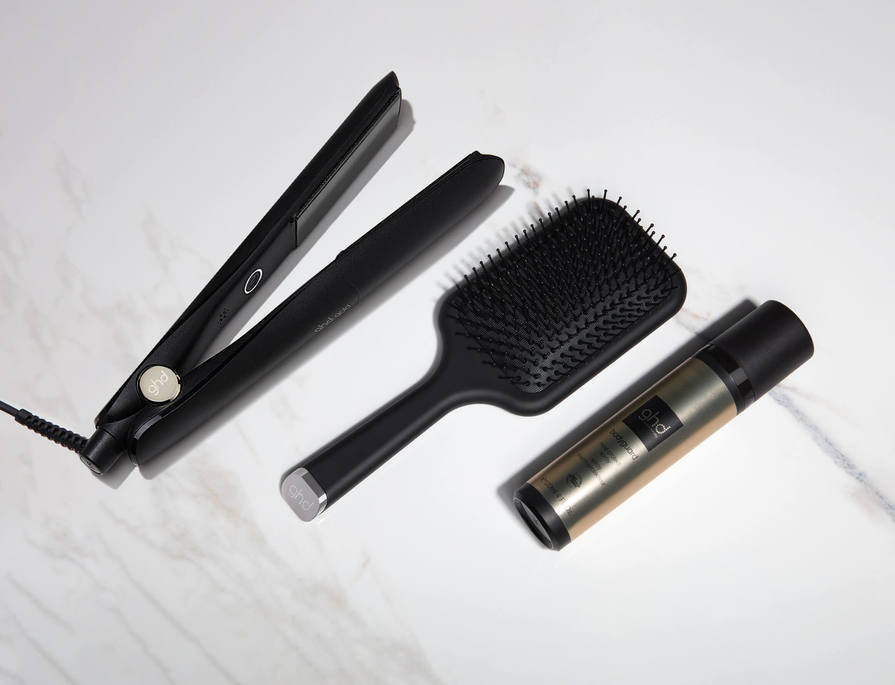 Receive a FREE ghd paddle brush & FREE heat protect spray worth over $75!