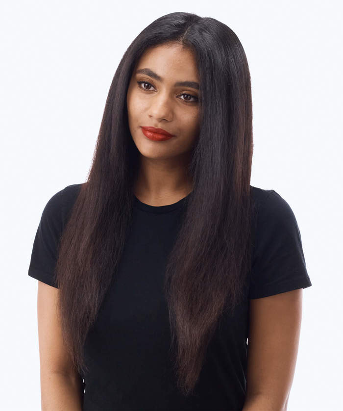 STRAIGHTEN LONG TEXTURED HAIR