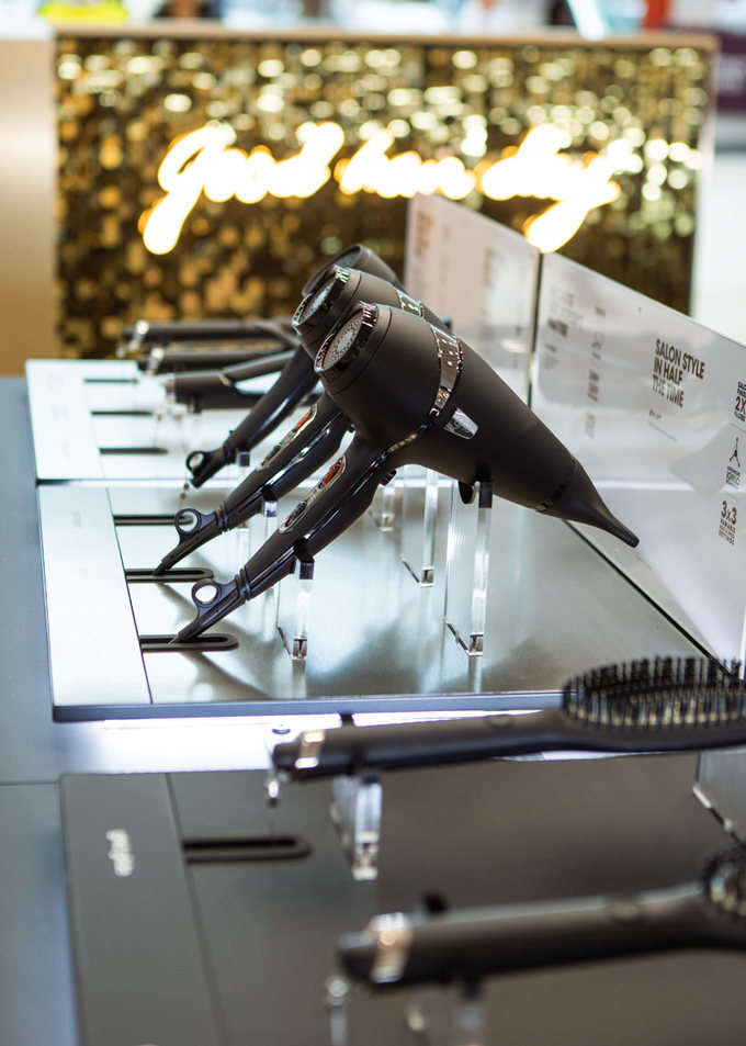ghd's range of styling tools