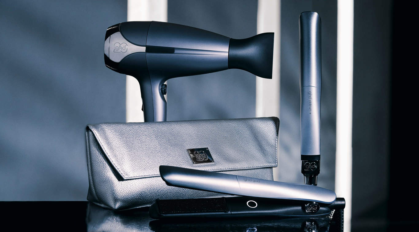 Celebrate 20 years of good hair days as we mark our 20th anniversary with the NEW limited edition couture collection - featuring the ghd platinum+, ghd gold® and ghd helios™.