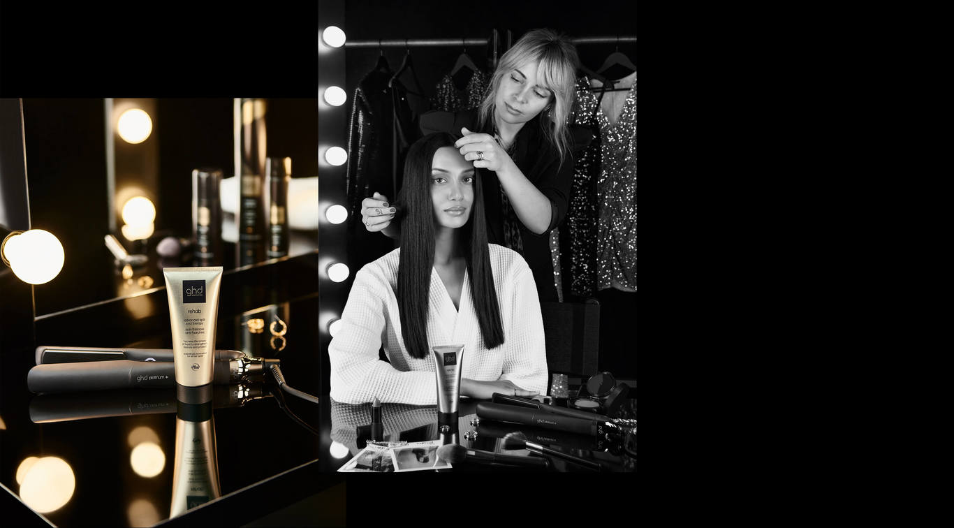 The ghd heat protection styling range works in perfect symbiosis with ghd styling tools, so you can maximise your hair styling routine for professional end results.